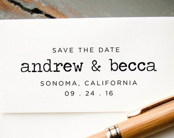 Self Inking Stamp, Save the Date Stamp, Custom Rubber Stamp, Personalized Stamp, Custom Stamp, Wedding Announcement, DIY Wedding Favors
