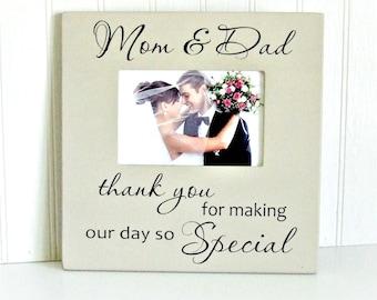 Parent Thank You Wedding Frame, Parents Thank You Frame, Gift for Parents, Thank You Parents Wedding Frame, Parents Thank You Gift, Wedding
