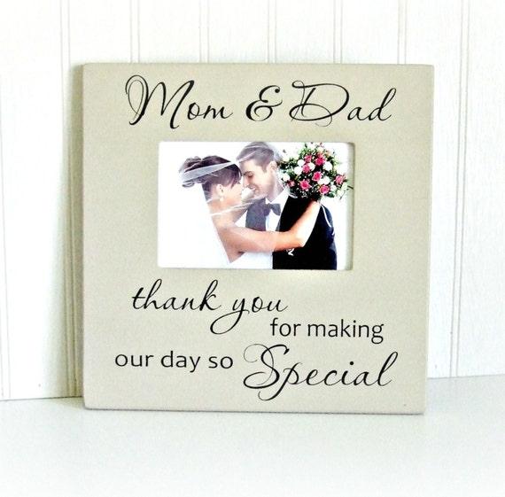 Parent Thank You Wedding Frame Parents Thank You Frame Gift