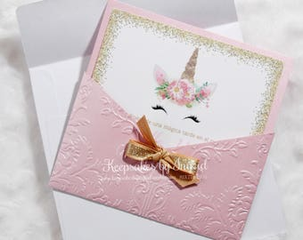 Unicorn invitations- set of 15