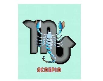 Scorpio Cross Stitch Chart