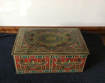 Vintage Egyptian Revival Beautébox Tin