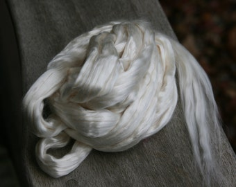 Bleached White Tussah Silk - 15 ounces - Almost - But Not Quite - 1 Pound (LB)!