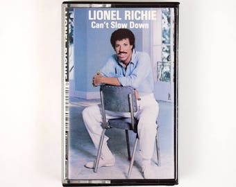 "1983 Lionel Richie ""Can't Slow Down"" Cassette Tape, Penny Lover, Hello, Running With The Night, All Night Long, Stuck On You"