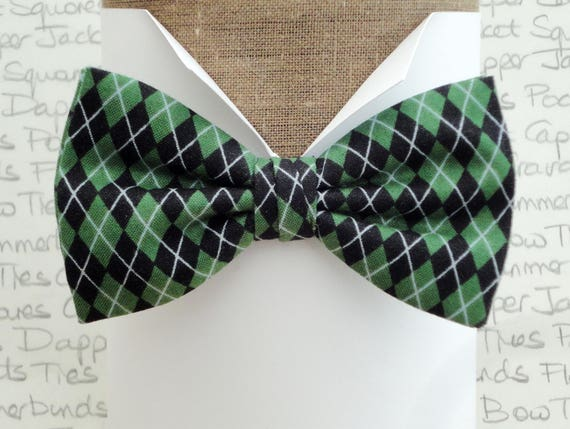 Bow ties for men, Argyle golf print bow tie