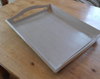Painted Wooden Service Tray. Shabby-Chic, Distressed Style.