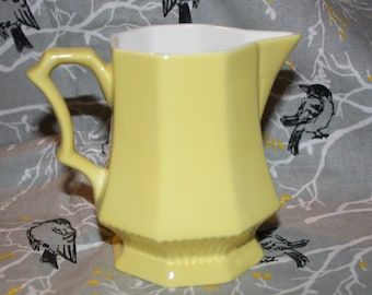 Independence Ironstone Vintage Yellow Creamer/Pitcher made in Japan