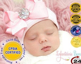 newborn hospital hat (Baby girl hat, newborn girl hat, hospital newborn hat, newborn hat)