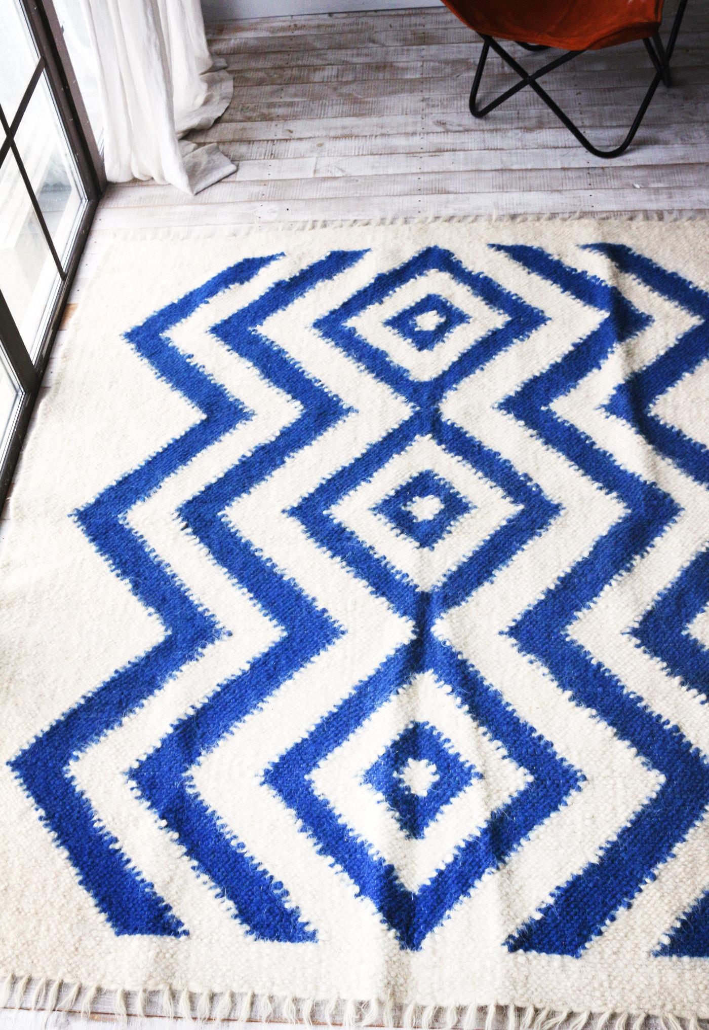 Teppich. Skandinavische Teppich. Wollteppich. Schwedische