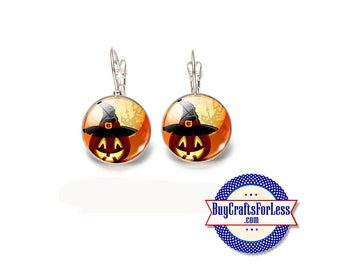 "CLeARANCE - *HALLOWeeN ""PUMPKIN"" EARRiNGS, 18mm  +FREE SHiPPiNG & Discounts*"