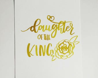 Daughter Of The King Handlettering Original Painting