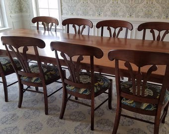 Solid maple Farmhouse Dining Room Table
