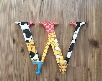 Toy Story Woody Wooden Decoupage Letter/Initial or Number
