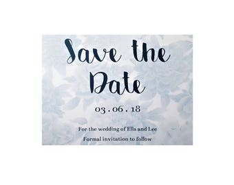 Bespoke Floral Save the Date & Envelope