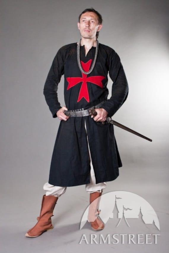 15% DISCOUNT! Knight Crusader Templar Medieval Tabard with Cross; sca cyclas; sca tabard; medieval tabard 9ay6P