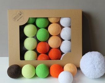 Cotton Balls Orange Tree 20 items