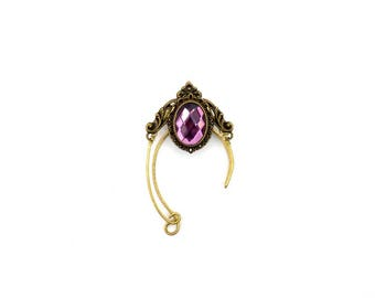 EAR CUFFS - Elf ear cuff - Elf ears - Elven ear cuff - Elven ears - Fairy Ears -Ear cuffs VIOLET Purple, Silver. Elvish