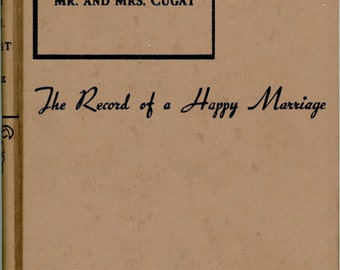 "1944 Book, ""Mr. and Mrs. Cugat"", The Record of a Happy Marriage"
