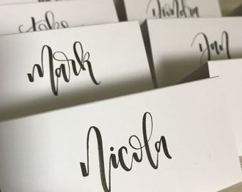 Calligraphy wedding place cards // wedding name cards / wedding namecards / wedding placecards