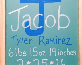 Baby Announcement Chalkboard