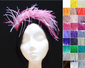 Feather bridal headpiece. Feather wedding headpiece. Feather headband. Gatsby headpiece. Feather fascinator. Bridesmaid headband. Burlesque