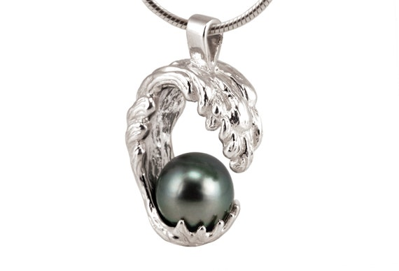 Black pearl necklace single pearl necklace single tahitian aloadofball Choice Image