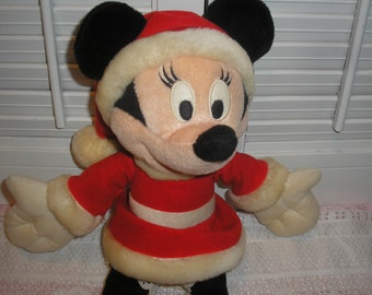 "Disney Mini Mouse 13"" TallWith Santa Suit"