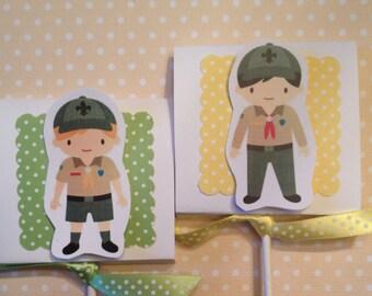 Boy Scouts Party Lollipop Favors - Set of 10