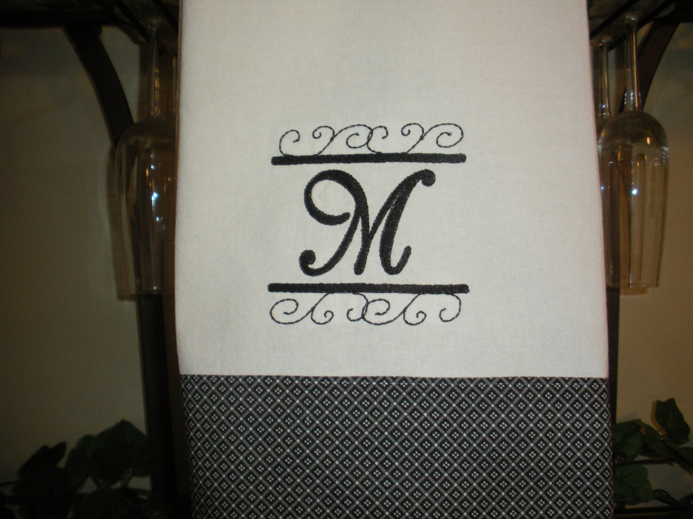 Monogrammed Kitchen Towel. Gallery Photo Gallery Photo Gallery Photo