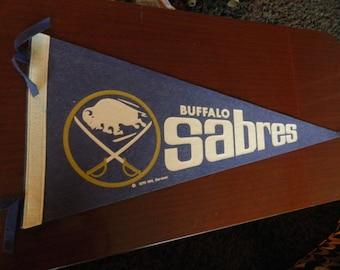 1970 Buffalo Sabres pennant Fullsize banner NHL Felt classic Very nice*
