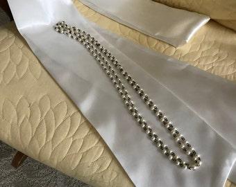 Bridal Sash, Wedding Gown Sash, Wedding Gown Belt, Soft White Satin Belt