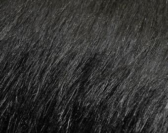 Fabric Fur artificial FU 11 black | Per Metre