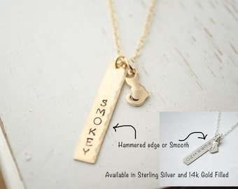 Cat Necklace | Cat Name | Personalized Necklace | Cat Silhouette | Silver or Gold