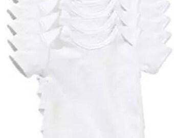 Set of 7 white bodies, short sleeves. Cotton. Either 2.70 euros per Bodysuit!