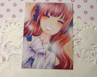 "Cocoa card / ACEO ""Happy"""