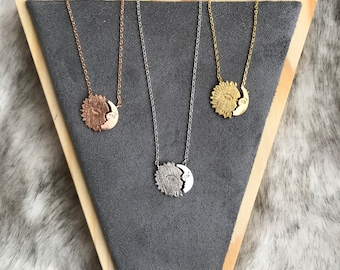 Sun and Moon Dainty Necklace