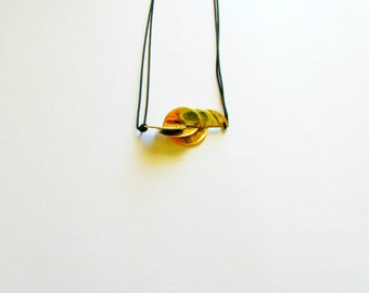 Half Circle Pendant Necklace-Gold Modern Necklace-Brass Pendant Necklace-Contemporary Jewellery-Modern Jewellery
