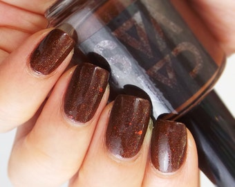 The Fox & The Owl - a chocolate brown with shimmer and glitter