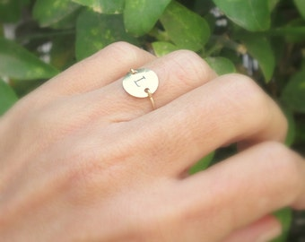 Skinny Gold Initial Stacking Ring, Personalized Rings, Minimalist Rings,Initial Rings, Slim Stacking Rings, Gold Ring, Rings, Couples Rings
