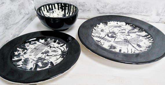 Unusual Dinner Sets. Modern Plastic Plates Dinner Marbella Silver ...