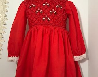 Vintage Polly Flinders Hand Smocked Dress