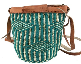 Mothers day gift basket , African basket , Woven basket , Handmade basket , Groceries basket , Eco friendly basket , Thread knitted basket