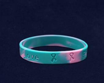Pink & Teal Silicone Bracelet (RE-SILB-24)