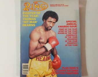 "The Ring Magazine March 1985 Thomas ""Hit Man"" Hearns"