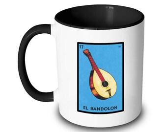 El Bandolon Mug Mandolin Loteria Card Mexican Bingo