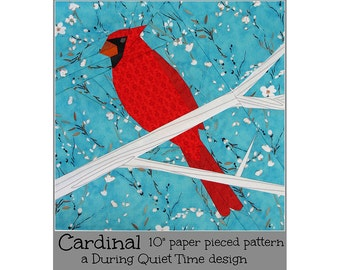 Cardinal Paper Pieced Pattern