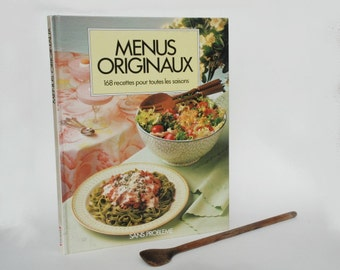 French Cookbook, Cooking Book, Vintage Kitchen decor, Christmas gift idea