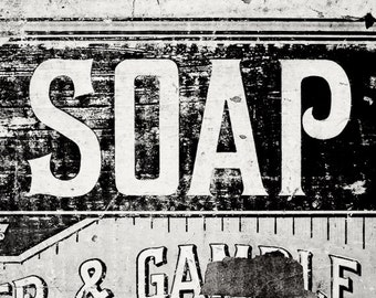 Rustic Bathroom Wall Decor Bathroom Artwork Wall Art Print Laundry Room Decor Nursery Art Black and White Vintage Soap Photo for Bathroom.