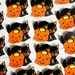 Vintage Halloween Die Cut Seals | Black Cat Jack O'Lantern Seals | Die-Cut Halloween Labels
