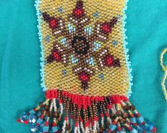 Peyote Stitch Medicine Bag Necklace